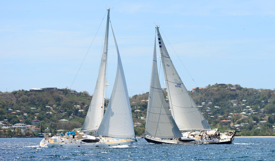 Oyster-82-Starry-Night-Class-1-winner-and-Oyster-575-Dreamer-Class-2-winner-and-overall-winner-both-Classes-enjoy-Oysters-31st-Regatta-in-Grenada