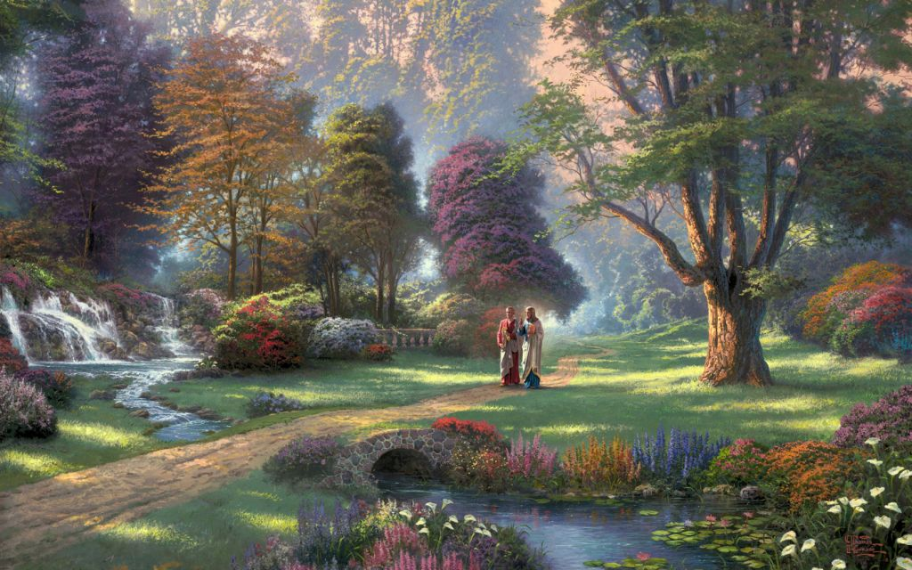 JesusChrist_Walking_InGarden_freecomputerdesktopwallpaper_1680